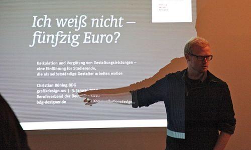 16. Christian Büning:<br />Ich weiß nicht – 50 Euro? Kalkulation und Vergütung für Designer